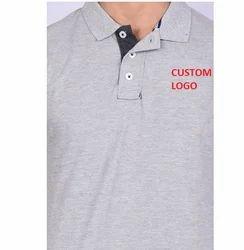棉或聚酯灰色促销定制印花T恤