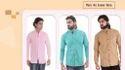 Cotton Plain Mens Casual Shirt