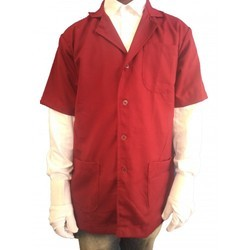 DR Apron Lab Coat Doctor Coat Supervisor Short Sleeve Red Color Coat