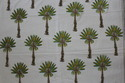 Designer Palm Tree Block Print Cotton Fabric