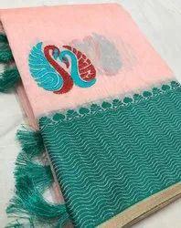 Soft Cotton Linen Saree