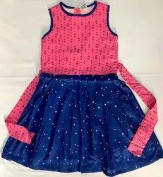 Rayon Pink Girls casual dress
