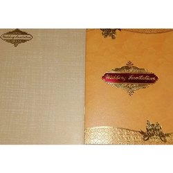 Kraft Paper Oriental Wedding Invitation Card, Size: 10x7 Inch