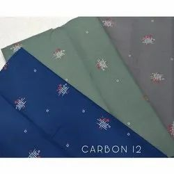 Carbon Print Cotton Shirting Fabric