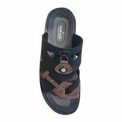 Black Brown Mens VKC Slippers