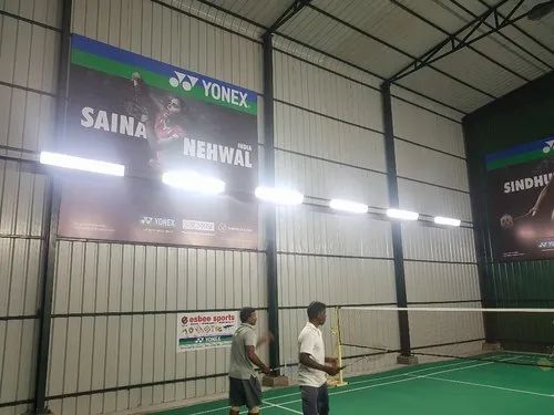Wooden & Synthetic Flooring Carpet Court Badminton Court Construction Services, Pan India, for Commercial