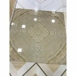 Polished Rectangle Vitrified Floor Tile, For Flooring, Thickness: 15-20 mm
