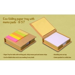 Eco Folding Paper tray with memo pads