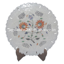 Stone Marble Inlay Plate Marquetry