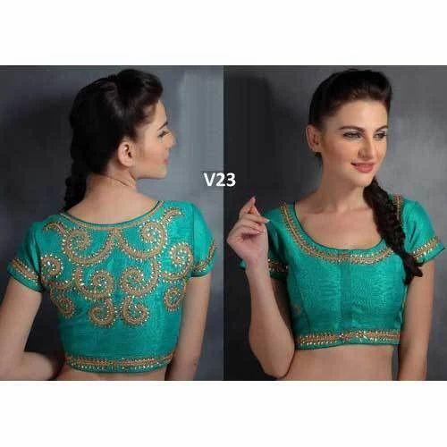 d34b4e322af17 Silk Party Wear Fancy Blouse