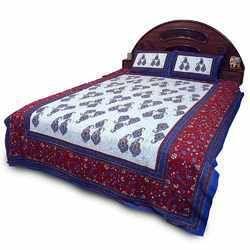 Sanganeri Print Double Bed Sheet Set 357