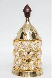 Brass Crystal Akhand Diya