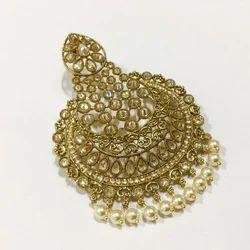 Mehandi Gold Polish Earrings Tikka