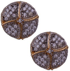 Mahaveer Pearls New Festive Collections New Fashion Brass Stud Earring