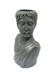 Greek Man Sculpture Head Planter