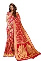 Red Party Wear Silk Sarees