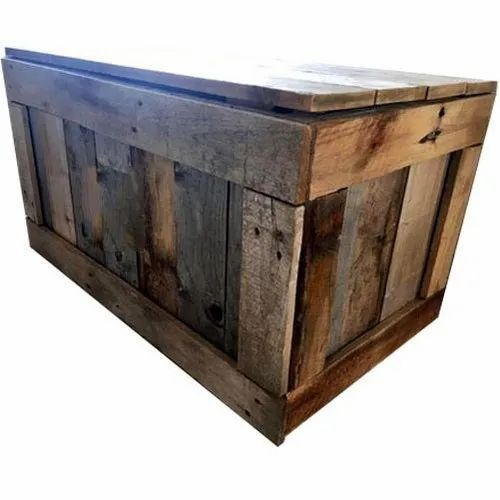 Rectangular Wooden Packaging Box for Shipping