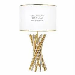 Craft SS And Brass RF00097 Table Lamp, For Home