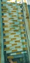 off white Modern Gawalier Mint and Teakwood Mix Cladding, Thickness: 20-25mm