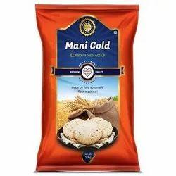Mani Gold 5 Kg Chakki Fresh Atta, Packaging Type: Bag, 3 Month