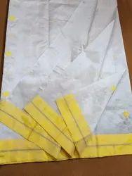 Chanderi Pure Silk Designer Saree, Length: 6.3 m (With Blouse Piece)