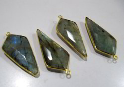 Labradorite Faceted Briolette Arrowhead Single Loop