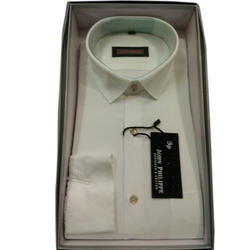 White Plain Men's  Cotton Shirt