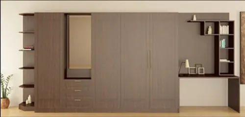 Wardrobe Designs Wardrobe With Study Table Architect Interior Design Town Planner From Bengaluru