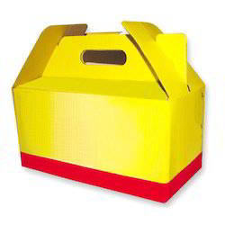 Corrugated Paper Sheet Duplex Packaging Box, Rectangular