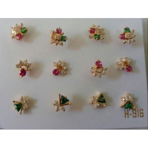 Ladies Nosepin Gold Casting Nose Pin Wholesale Supplier From Madurai