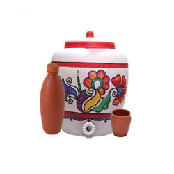 Earthen Water Pot With Clay Water Bottle