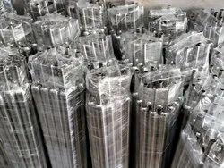 Ss Glossy Round S S Railing Pillars, Material Grade: 202