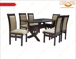 Crystal Furnitech Process Wood Wooden Dining set and chairs, For Home, Seating Capacity: 6