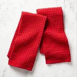 Cotton Waffle Weave Kitchen Towels, Size: 50cm x 70cm