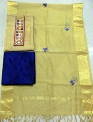 Chanderi Aari Work Designer Suit