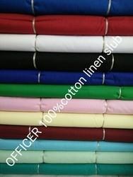 Cotton Linen Slub Fabric (Officer)