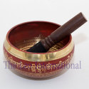 Red color brass singing bowl
