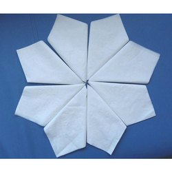Plain White Paper Napkins, Packaging Type: Packet