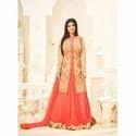 Cotton Peach Color Salwar Suit, Size: L