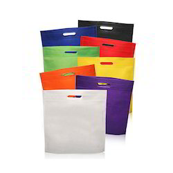 Red And Gree Non Woven D Cut Multi Colour Bags, Capacity: 2kg And 10kg