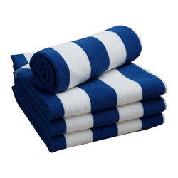 White And Blue Pool Towels, Size: Up To 36 X 72 Inch