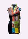 Indian Handmade Silk Kantha Patch Work Ladies Scarves