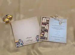 Traditional Marriage Invitation Card Design, Size: 20.3cm X 20cm