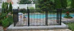 Galvanized iron fence panel