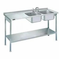 Double SS Sink Table