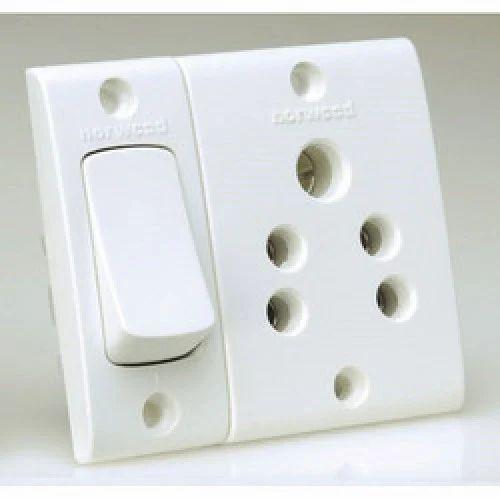 White Socket Switch, Electric Switch, बिजली के स्विच - M ...