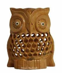 Wooden Jali Tuk Owl