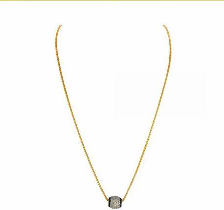 Shree Balkrishna Jewellers 22kt Gold Thin Box Chain With Rotating