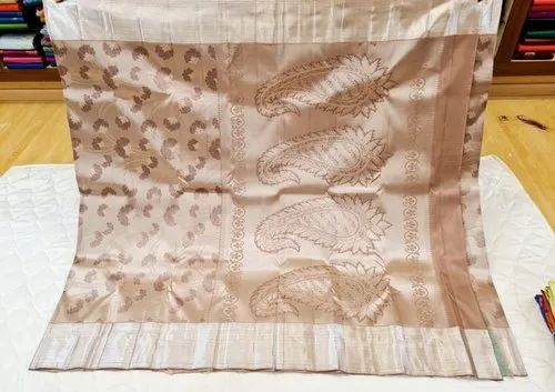 Beige Color Traditional Silk Sarees