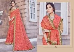 Digital Printed Ladies Linen Saree Length: 5.5m
